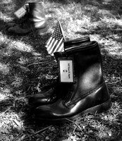 Fallen American Soldiers Boots, (Grant Park Chicago Exhibit) Memorial Day, 2007